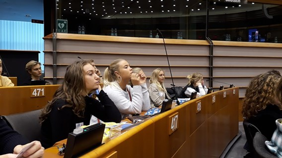 Deltagelse i Youth Parliament, 2018, i plenarsalen.jpg